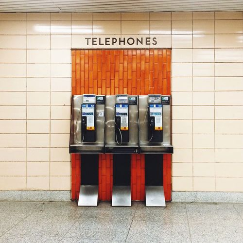 Pay Phone In Subway Station