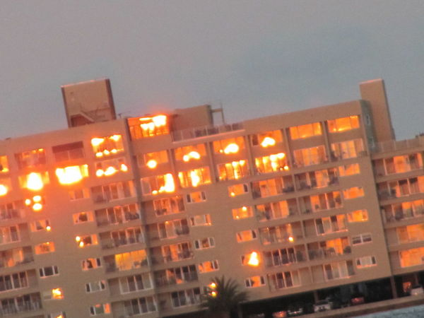 The sunset made this building look firey Building Exterior City FireyGlow JacksonvilleFL Orange Color Residential Building