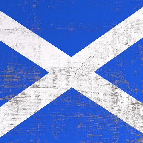 3d rendering of Scotland flag in a scratched surface Britain Edinburgh European  National Patriotic Scotland Scottish United Kingdom Europe Flag Nation National Landmark Old Scratched