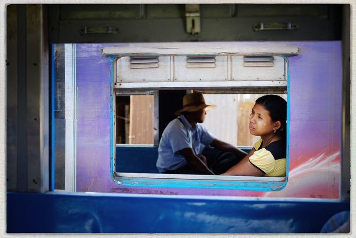 From train to train, Circle Line, Yangon, Myanmar