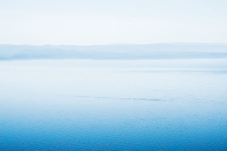 Beauty In Nature Blue Bright Bright Blue Croatian Coast Day Highkey Highkey Landscape Islands Landscape Meditation Nature No People Outdoors Ripples Scenics Sea Seascape Sky Soft Waves Space Tranquil Scene Tranquility Vacation Water