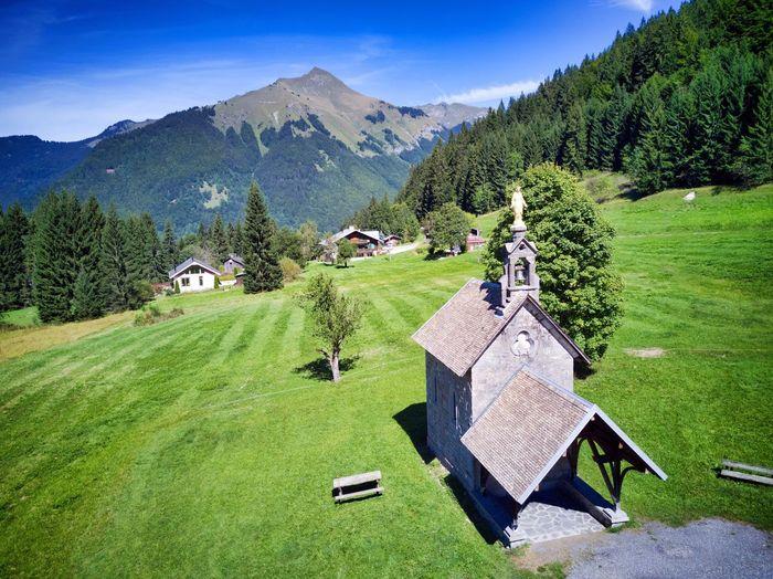 Chapelle Church Chapelle Des Mouilles Morzine Les Gets Les Gets Haute-Savoie  Mavic Pro Nantaux Pointe De Nantaux Drone  Luminar Les Gets