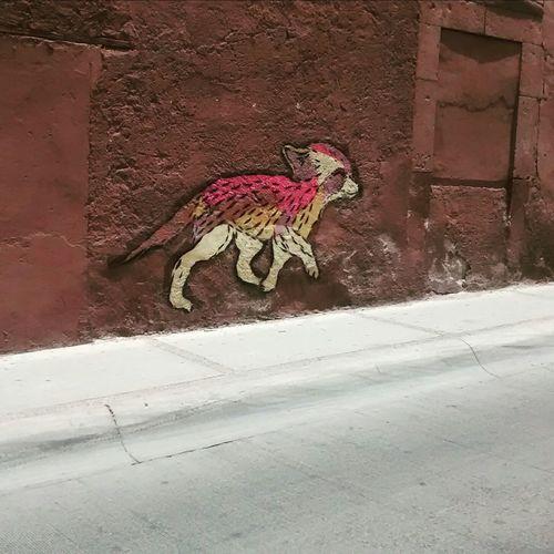 Arte urbano en el centro de la ciudad
