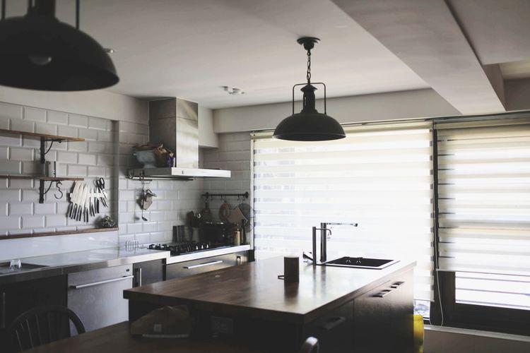 Sammy's Kitchen Household Fixture Home Showcase Interior Modern Domestic Room Kitchen Luxury Home Interior Hanging Domestic Kitchen