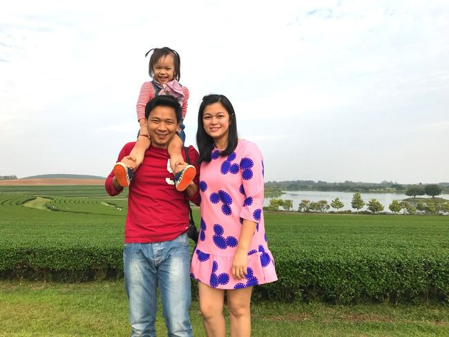 Happy Family Cute Copy Space Love Family Smile Warm Happy Sky Family Real People Women Togetherness Child Bonding Leisure Activity Emotion Females Girls Childhood Land Standing Nature Day Positive Emotion This Is Family
