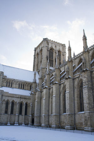 York Minster in the snow Architecture Catherdal Church Historic Outdoors Travel York York Minster