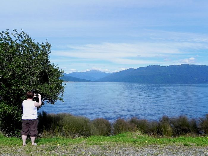 NZ Scenery Photographer Photography Wife Mountain Two People Lake Nature Mature Adult Rear View Togetherness Beauty In Nature Sky Tranquil Scene Tranquility Leisure Activity Scenics Weekend Activities
