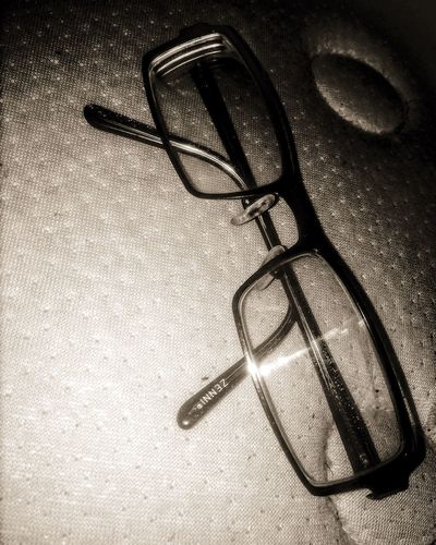 Zennioptical Glasses Blackandwhite Sepia Indoors  High Angle View Table No People Close-up Day Vision