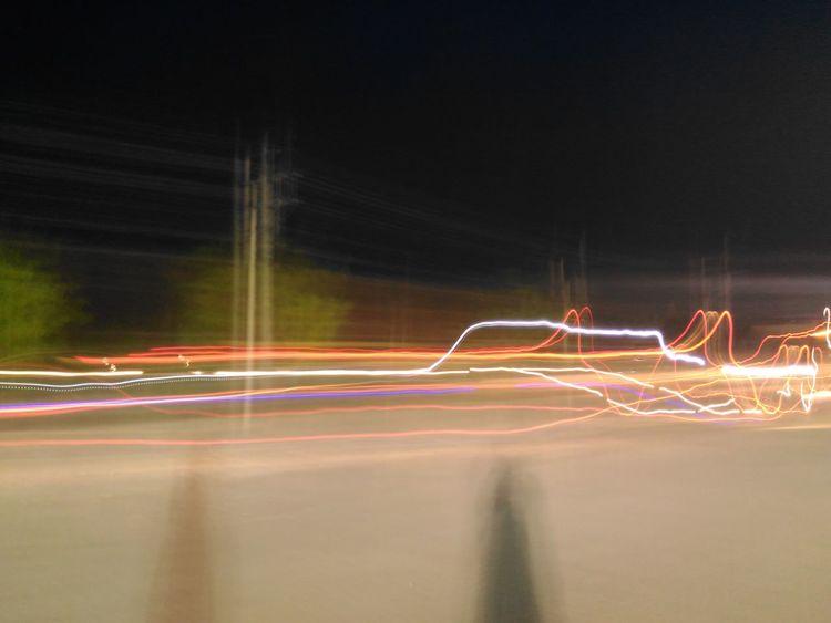 Light Trail Speed Night Illuminated Motion Long Exposure Blurred Motion Neon No People Fresh On Eyeem  EyeEm Best Shots Fresh On Eyeem  EyeEmNewHere EyeEm Masterclass Randomshot Outdoors Traffic Connection No Filter EyeEm Taking Random Pics ~ Multi Colored Lights Streetphotography experimenting the night street