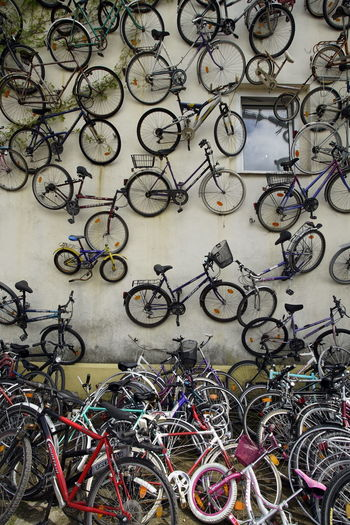 Bicycle Bicycle Rack Close-up Day Large Group Of Objects Many Of A Kind No People Outdoors Retail  Wall Art