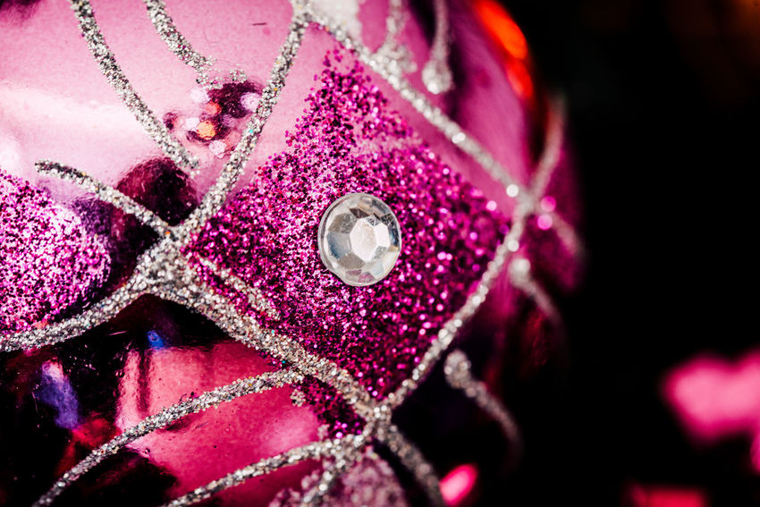 Pink Color Close-up No People Textile Selective Focus Pattern Decoration Purple Indoors  Winter Art And Craft Extreme Close-up Macro Flower Black Background Christmas Christmas Decoration