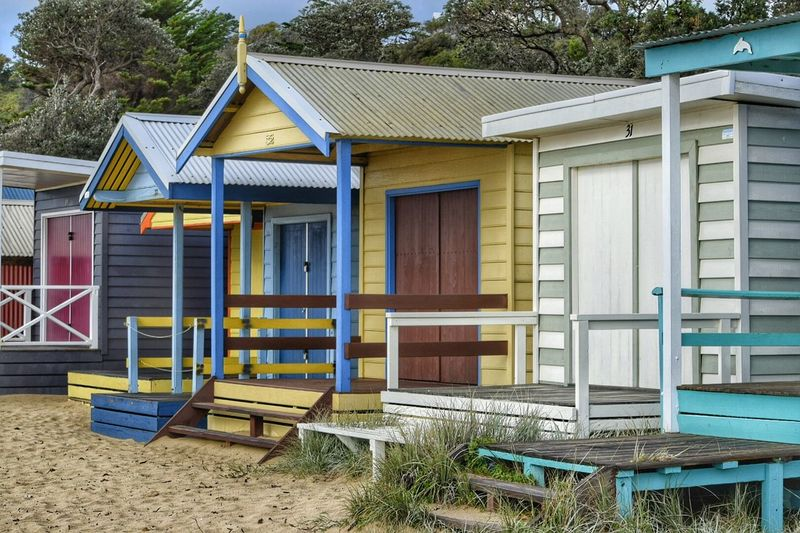 Essence Of Summer The Great Outdoors - 2016 EyeEm Awards Beach Photography Colorful Vacation Childhood Memories Painted Colours Holiday Time To Relax Beach Little House Home From Home BeachHouse Beach House Huts Beach Huts Shelter Pastimes Beach Hut Beachphotography Small House Mornington Peninsula Australia