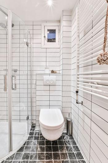 View of white bathroom