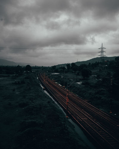 railway track Nature Photography Travel Photography Travelphotography City Road Storm Cloud Sky Cloud - Sky Passenger Train Rail Transportation Public Transportation Train - Vehicle Train Foggy