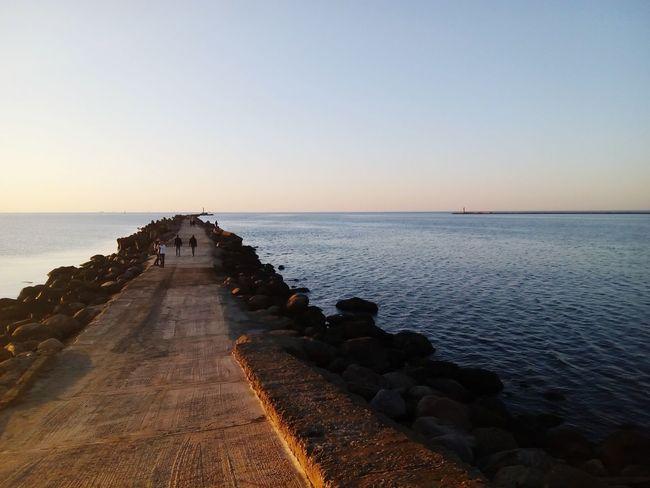 Pier Jetty Baltic Sea Daugava River Way To Go Way Ahead Road Ahead EyeEm Selects Water Sea Sunset Beach Sunlight Summer Sun Seascape