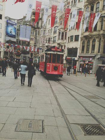 2013 Istanbul Istiklal Caddesi Taksim Tramvay Love Streetphotography