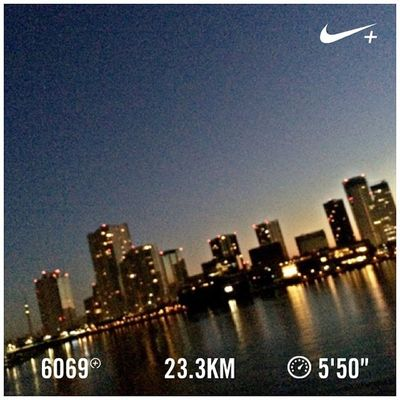 Running Nike Run Skytree スカイツリー GYAKUSOU Nikeplus 隅田川 ランニング Sumida ナイキ 隅田川テラス Sumidariver ラン 親水テラス 晴海大橋