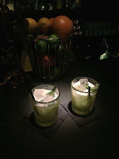 Cocktail Freshness No People Drinking Glass Ginbasilsmash
