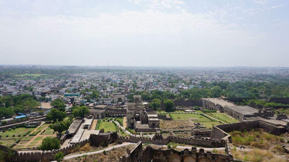 Landscape Photography-04 Cityscape High Angle View Aerial View Outdoors No People Sky City Cloud - Sky Architecture Day Building Exterior SonyAlpha6000 Sonyalpha Travel Destinations EyeEm Best Shots Hyderabad Heritage Tourism Business Finance And Industry Nwin Photography Landacape Landscape_Collection Landscape Photography