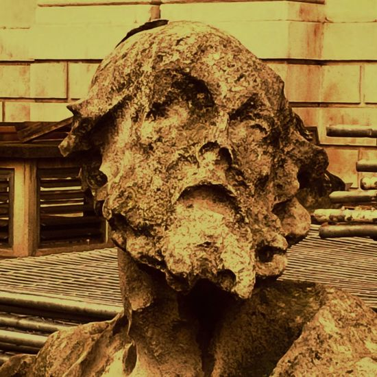 Aged Stone Creativity Erosion Face London Scuplture St Paul's Cathedral Statues