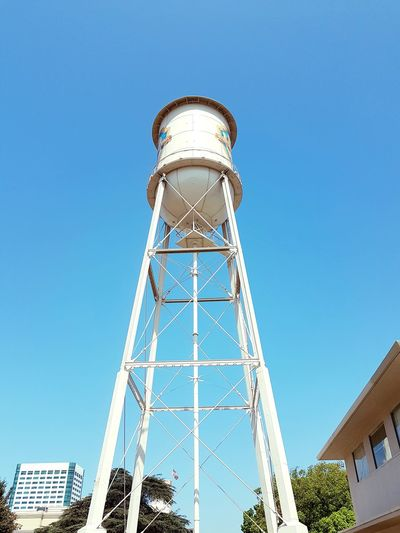 Blue Sky Warner Bros Studios Hollywood California Blue Business Finance And Industry Sky Water Tower - Storage Tank Tower