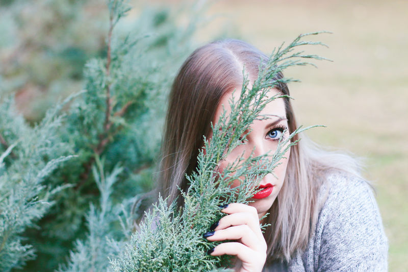Warm Winter - Photoshoot with Francesca, January 2016 Blonde Blue Eyes Close-up Face Fashion Femininity Green Headshot Lifestyles Model Mood Natural Beauty Nature Outdoors Plant Plants Portrait Portrait Of A Woman Red Lips Styling Sublime Living Sweater Woman Woman Portrait Young Woman