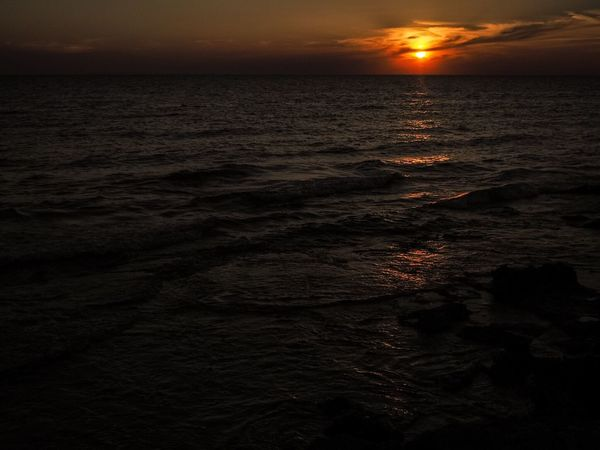 Colour Of Life Sunset Seaview Water Sea And Sky Italy Puglia Silhouette Creative Light And Shadow CreativePhotographer Salento Sunset Silhouettes Seaside