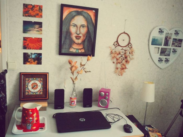 Changes Interior My Working Desk My Painting Wall Dream Catcher Interior Design Boho Photography Living Brightness