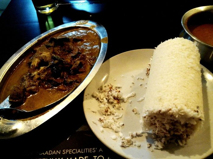 Better Together kerala dish puttu with fish curry . .