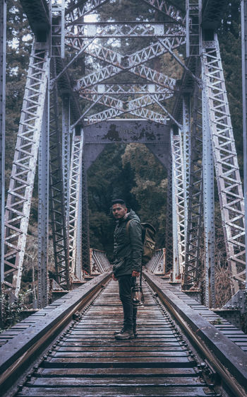 Adult Adults Only Bridge - Man Made Structure Businessman City Day Full Length Journey Men One Man Only One Person Only Men Outdoors People Young Adult