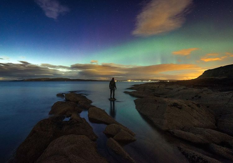 Aurora selfie Astronomy Only Men One Man Only Horizon Over Water Star - Space Nature Scotland Scotland 💕