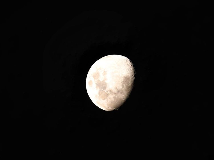 Lunar beauty Astronomy Moon Night Space Sky Planetary Moon Low Angle View Scenics - Nature Circle Geometric Shape Moon Surface Beauty In Nature Copy Space Full Moon