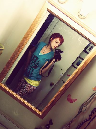 Redhairdontcare Girlswithpiercings Girlswithtattoos Skirt Warm Weather 2015 Spring Selfie