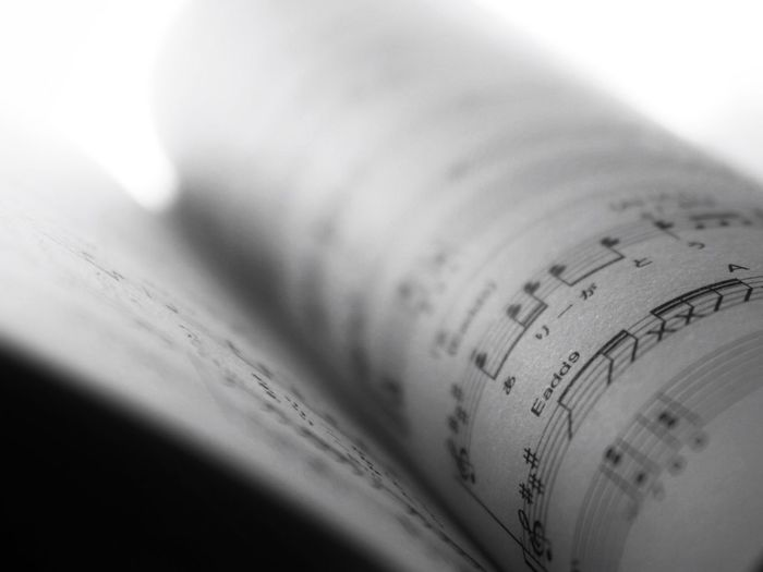 Close-up of music sheets