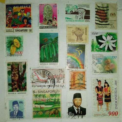Stamps Stamp Collection Multi Colored Poster No People Drawing - Art Product ArtWork Close-up Day Indoors  Lieblingsteil