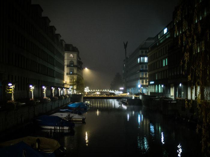 Zürich Switzerland Zurich, Switzerland Streetphotography Street Photography Night Night Lights Nightphotography Schanzengraben River Learn & Shoot: After Dark