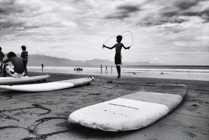 Monochrome Photography Cloud - Sky Cloudy Leisure Activity Photography In Motion Enjoying Life Check This Out Beach Scenics Blackandwhite Photography Black And White Men Beach Full Length Water Lifestyles Cloud - Sky Sand Leisure Activity Sky Sea Vacations Cloud Shore Eyeem Philippines Done That.