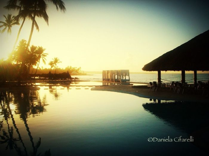 Sunrise at Bayaibe - Dominican Republic Frame It! Don't Be Square Sunset Silhouettes Vanishing Point