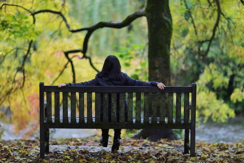 Sitting on bench looking forward! Park Bench Change Plant Part Relaxation Trunk Park Nature Land Day Autumn Full Length Real People Women Sitting Tree Rear View Tourist Outdoors Bench Plant Tree Trunk Sitting Outside End Of Summer Sitting Here Thinking It Through... A New Beginning Seat Sitting Alone Enjoying The Outdoors Sitting On A Bench Lifestyles EyeEm Best Shots Autumn Collection Moments Of Happiness Sitting In The Park One Person Peak District Northern England England, UK Leisure Activity Village Photography