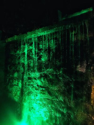 Night Dark Nature Green Color Cave Beauty In Nature No People Water Outdoors Illuminated Iphone7plusphoto