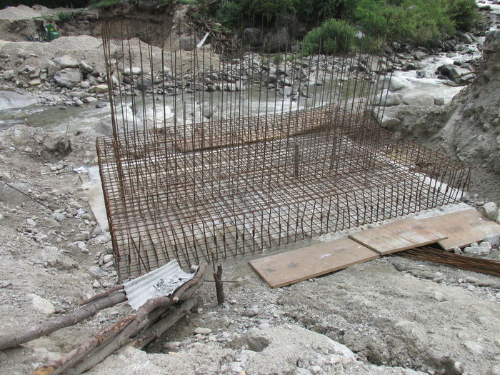Construction of the Bridge Bridge Constructin Civil Structure Developmentss Rainforcements River Riverside Transportion Water