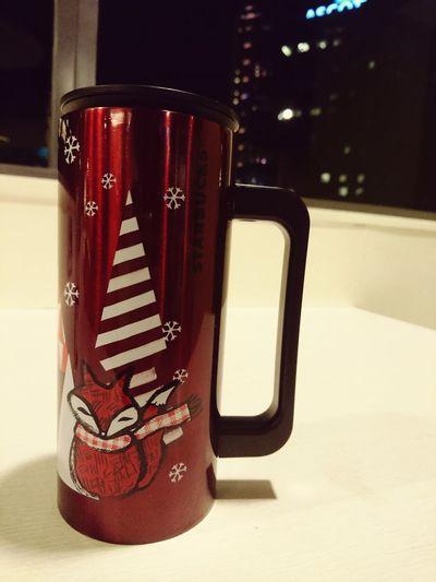 Drink Refreshment No People Red Close-up Starbucks Mug