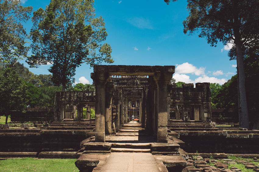 Siem Reap Cambodia Angkor Architecture Built Structure History The Past Ancient Nature Sky Tree Place Of Worship Ancient Civilization Plant Old Ruin Travel Destinations Religion Cloud - Sky Day Belief Old Architectural Column Tourism No People Archaeology Outdoors Ruined