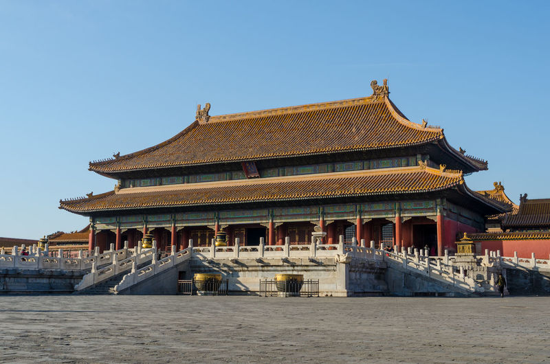 Ancient Architectural Feature Architecture Beijing, China Blue Building Exterior Built Structure Clear Sky Culture Entrance Exterior Famous Place History National Landmark Outdoors Pagoda Place Of Worship Religion Roof Sky Spirituality Temple - Building Tourism Travel Travel Destinations