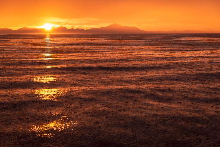 Alaska Sunrise Sunset Water Sea Beauty In Nature Scenics - Nature Sky Tranquility Nature Tranquil Scene Orange Color Idyllic Reflection Sun Sunlight Outdoors No People Romantic Sky