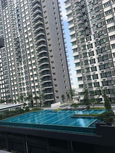 Concrete Jungle Poolside Building Built Structure
