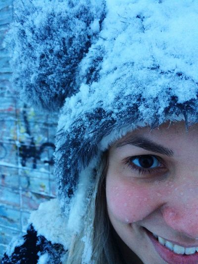 Winter Cold Temperature Snow Human Face Looking At Camera Weather One Person Snowflake Warm Clothing Human Eye Young Adult Young Women Close-up Portrait Lifestyles Tree Human Body Part Real People Snowing Nature Finding New Frontiers Snow Sports Portrait Girl
