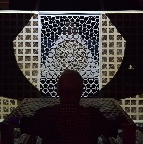 Meow Wolf House Of Eternal Return Art Old Man 3Dart Art Exhibit Creative Light And Shadow Silhouette Silhoutte Photography Patterns Light In The Darkness Inspired