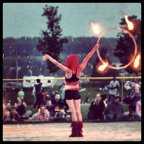 Fire Hooping  Shes On Fire Fireshow