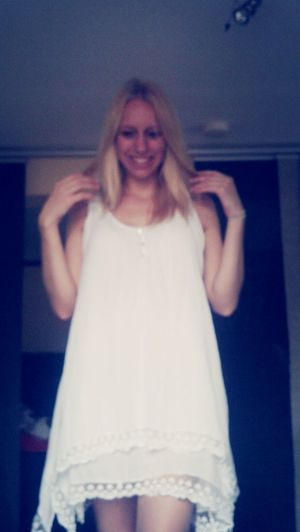 new dress :) Shopping Check This Out Feeling Lucky Blonde Hair & Brown Eye